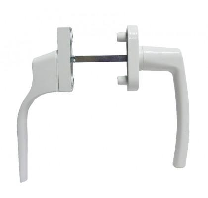 Ручка двухсторонняя дверная (узкая+обычная), цвет белый