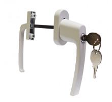 Ручка двухсторонняя. Ассиметричный балконный гарнитур с ключом и замком