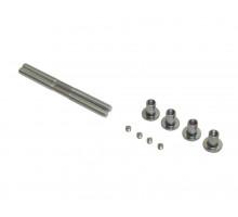 Ручка для алюминиевых дверей из нерж. стали, кронштейны неокраш., двухсторон., L=1000, D=32