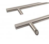 Ручка двустор. для алюм. двери, со смещением, комплект с крепл., L=1000, м/о=800, D=32, 114.SS.800.45