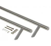 Ручка для алюминиевых дверей со смещением, комплект с креплением, L=1000, межосевое расстояние=800, D=32, 12154.0074N