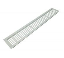 Решетка вентиляционная 480*80 мм белая, алюминий, модель Vals