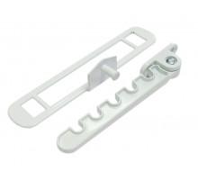 Гребенка оконная для алюминиевых окон Vertex, металл, белая