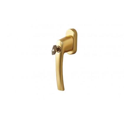 Ручка оконная с ключом Rotoline, 45 мм, цвет золото матовое