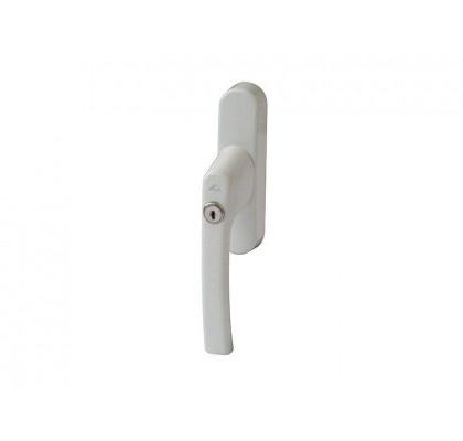 Ручка для алюминиевых окон c ключом белая