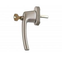 Ручка Rotoline с ключом Tilt First 37мм, 2 винта М5х50, серебро