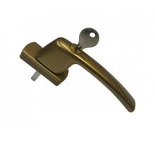 Ручка оконная с ключом и замком Maco Harmony, 35 мм, бронза