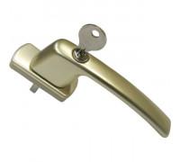Ручка оконная с ключом и замком Maco Harmony, 35 мм, шампань