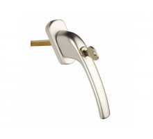 Ручка оконная с ключом и замком Maco Harmony, 35 мм, серебро