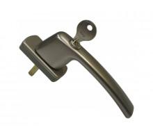 Ручка оконная с ключом и замком Maco Harmony, 35 мм, титан