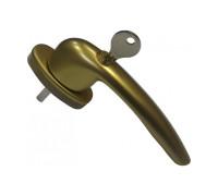 Ручка оконная с ключом и замком Maco RHAPSODY (Рапсодия), 35 мм, бронза
