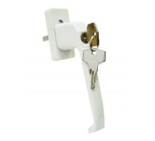 Ручка для окон ПВХ с ключом, замком и кнопкой