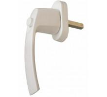 Ручка оконная с кнопкой Интерника, штифт 35мм, цвет белый