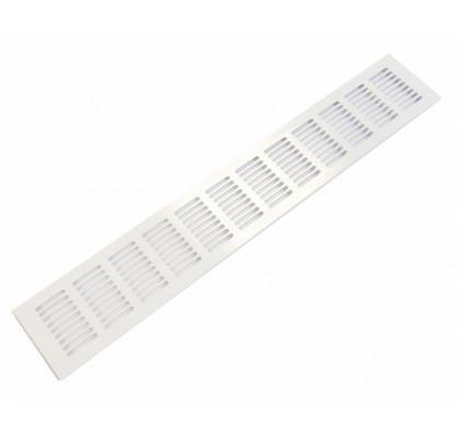 Решетка вентиляционная 480x80 мм белая, алюминий, модель Slim