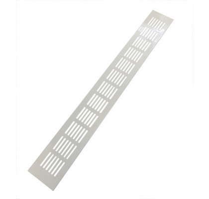 Вентиляционная решетка 480*60 мм, алюминий, белая, модель Vals
