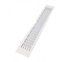 Решетка вентиляционная 480x80 мм белая, алюминий, модель Chess