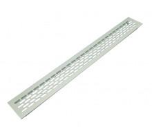 Вентиляционная решетка для подоконника 480*60 мм светло-серебристая