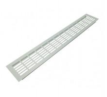 Решетка вентиляционная 480*80 мм алюминий светло-серебристая