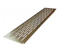 Вентиляционная решетка для подоконника 100х500 мм, серебристая