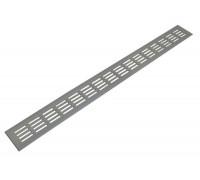 Решетка для подоконника Werzalit 80х800 мм серебристая