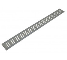 Решетка для подоконника Werzalit 800х80 мм серебристая