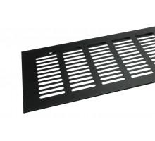 Вентиляционная решетка 500*100 мм, алюминий, черная