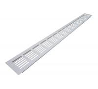 Решетка вентиляционная алюминиевая 800х80 мм белая