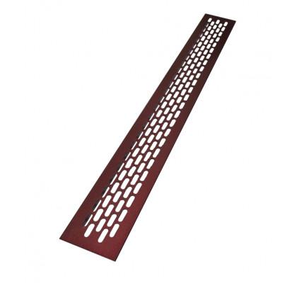Решетка вентиляционная 480*60 мм алюминий, цвет бордовый