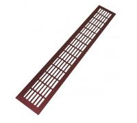 Вентиляционная решетка SETE для подоконника 480*80 мм бордовый