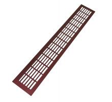Решетка вентиляционная 480*80 мм, алюминий, цвет бордовый