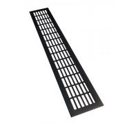 Вентиляционная решетка для подоконника 600*100 мм черная