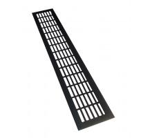 Решетка вентиляционная 480*80 мм, алюминий, черная, модель Chess
