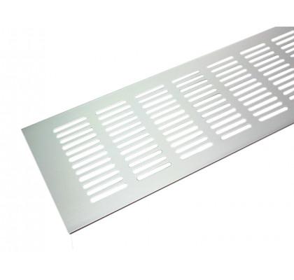 Вентиляционная решетка для подоконника 500*100 мм светло-серебристая