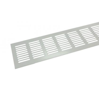 Решетка вентиляционная для подоконника алюминий 1000х80 мм белая
