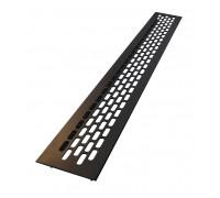 Вентиляционная решетка для подоконника 480*60 мм черная