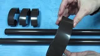 Ручка -труба дверная прямая 500мм коричневая