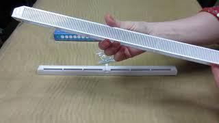Комплектация оконного клапана проветривателя